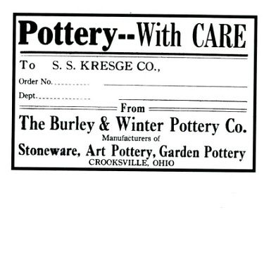 Burley Winter Sticker Pottery